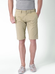 "Moda Rapido Mustard Yellow Shorts- Stretch fabric- Mobile (upto 6.2"") Phone Pocket"