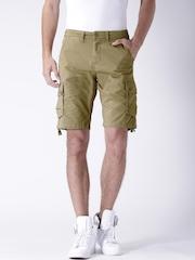 "Moda Rapido Khaki Cargo Shorts With Mobile (upto 6.2"") Phone Pocket"
