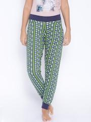 July Nightwear Navy Printed Lounge Pants TRPP001