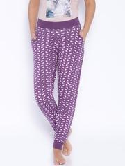 July Nightwear Purple Printed Lounge Pants TRPP003