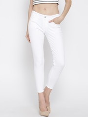MANGO White Skinny Fit Ankle-Length Jeans