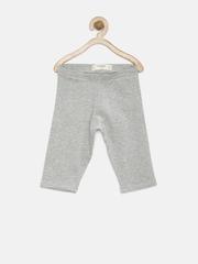 MANGO Kids Girls Grey Melange Leggings