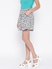 Antigravity Lavender & White Floral Print Shorts