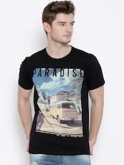Sera Black Printed T-shirt