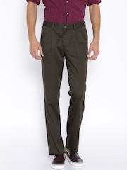 Indian Terrain Brown Kansas Fit Chino Trousers