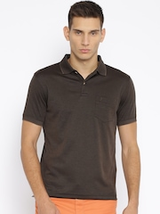 Indian Terrain Coffee Brown Classic Fit Polo T-shirt