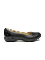Clarks Women Black Leather Flat Shoes
