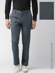 INVICTUS Blue Slim Fit Knitted Trousers