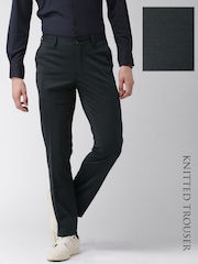 INVICTUS Black Slim Fit Knitted Trousers