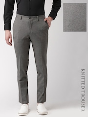 INVICTUS Grey Slim Fit Knitted Trousers