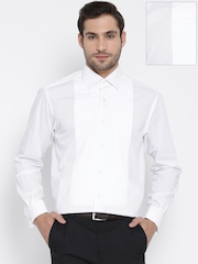 Wills Lifestyle Off-White Formal Shirt with Tucks