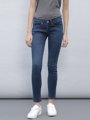 ETHER Women Blue Skinny Fit Mid-Rise Jeans