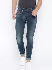 Ed Hardy Blue Super-Slim Fit Jeans