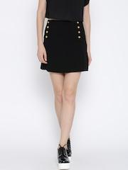 Vero Moda Black A-line Mini Skirt