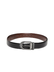 Louis Philippe Men Black Leather Belt