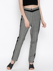 RARE Black & White Jacquard Casual Trousers