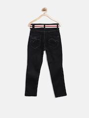 Gini & Jony Boys Black Slim Jeans with Belt