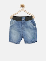 Palm Tree by Gini & Jony Boys Blue 3/4th Denim Shorts