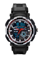 Skmei Unisex Black Analogue & Digital Watch SK100068
