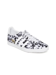 Adidas Originals Women Black & White Gazelle OG Printed Sneakers