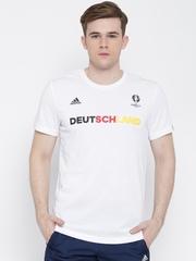 Adidas White Germany Printed Football T-shirt
