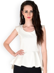 SASSAFRAS White Peplum Top