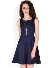 SASSAFRAS Navy Skater Dress