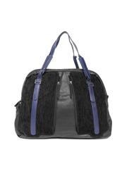Baggit Black Oversized Textured Shoulder Bag
