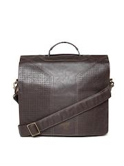 Baggit Men Brown Cut-Out Messenger Bag