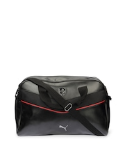 Puma Unisex Black Ferrari Luggage Bag