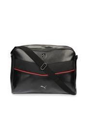 PUMA Ferrari LS Black Reporter Sling Bag