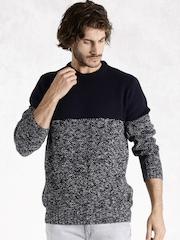 RDSTR Navy & White Sweater