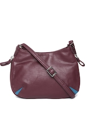 Baggit Burgundy Textured Sling Bag