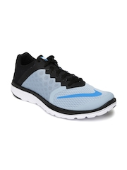 Nike Men Grey & Black FS Lite Run 3 Running Shoes
