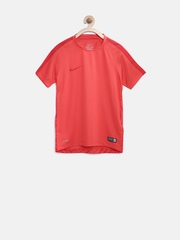Nike Boys Red Printed Training T-shirt