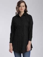 Fabindia Black Chikankari Embroidered Mukaish Work Kurti