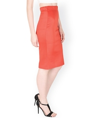 SASSAFRAS Coral Red Pencil Skirt