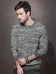 Roadster Men Grey Sweater