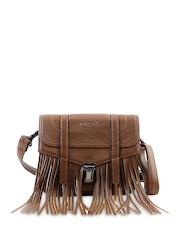 Remanika Brown Fringe Sling Bag