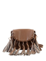 Remanika Brown Tasseled Sling Bag