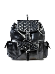 Remanika Women Black Backpack