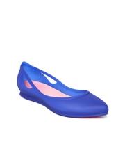 Crocs Women Blue Pointy-Toed Ballerinas