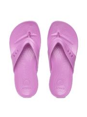 Crocs Women Purple Kadee Flip-Flops
