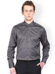 Blackberrys Grey Slim Fit Formal Shirt
