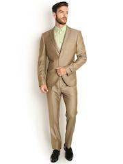 Blackberrys Beige Single-Breasted Slim Fit Suit