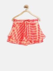 Gini & Jony Girls Orange Tie-Dyed Skorts