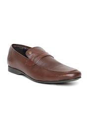 Alberto Torresi Men Brown Textured Leather Semiformal Shoes