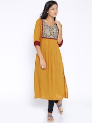 Desi Weaves Mustard Yellow Kurta