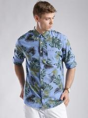 Tommy Hilfiger Blue Tropical Print New York Casual Shirt