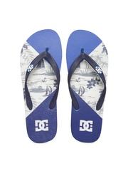 DC Men Blue SPRAY Printed Flip-Flops